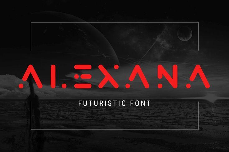 Alexana - Cosmic Futuristic Font - Display