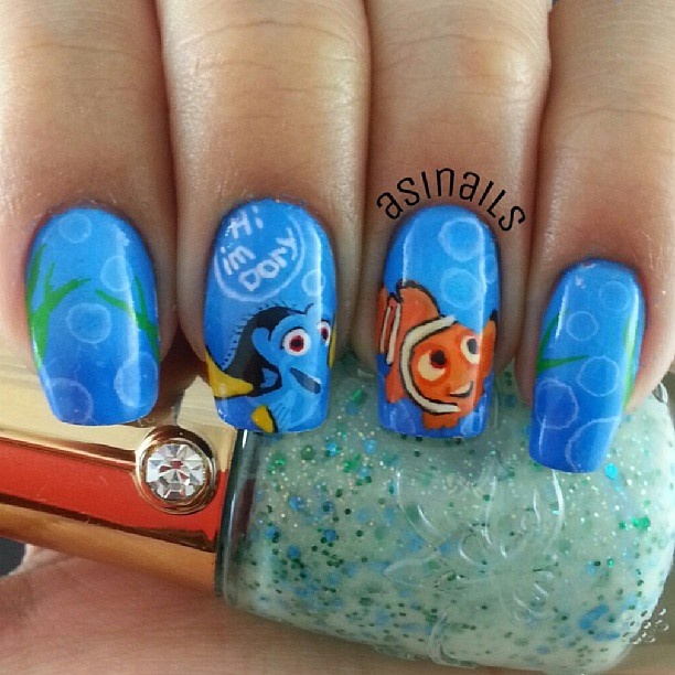The 9 best images about finding dori nail art on pinterest nail instagram photo by asinails nail nails nailart finding nemofish prinsesfo Gallery