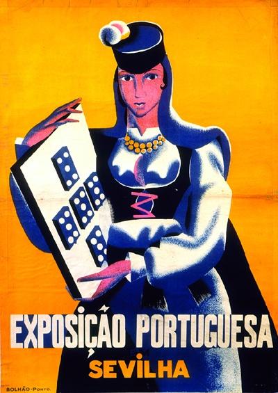 Cartaz para a Exposição em Sevilha, por José de Almada Negreiros