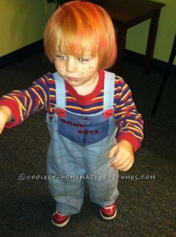 I always thought my son kind of looked like Chucky. SO I watched the original movie to see how I could make a Chucky Good Guys Doll costume. Realized ...