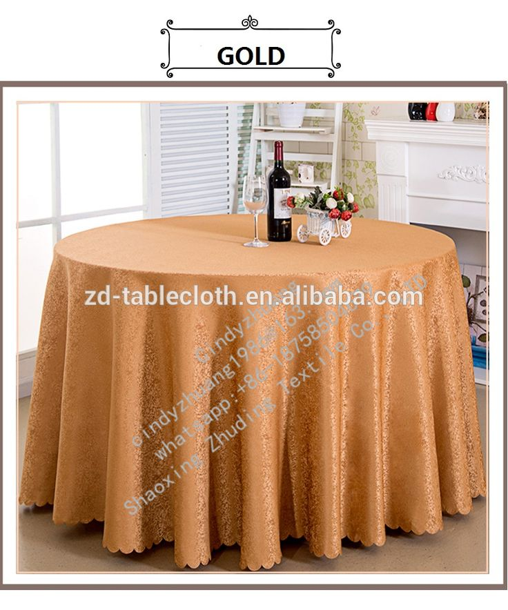 Cheap elegant gold tablecloth round wedding banquet hall