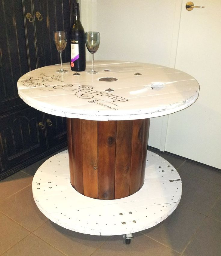 Industrial Table Cable Drum/Electrical Spool on Castors Wheells