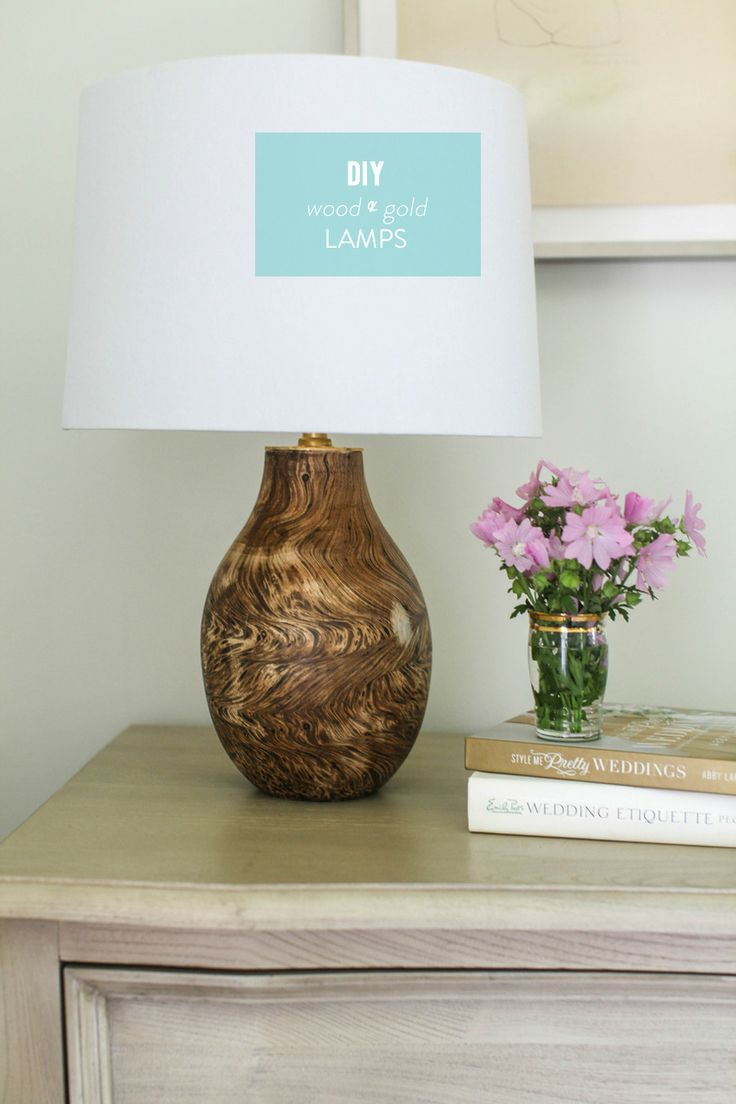 DIY Wood and Gold Lamp as seen on The Today Show!  Read more - http://www.stylemepretty.com/living/2013/07/10/diy-wood-and-gold-lamp/Wood Gold, Gold Leaf, Design Ideas, Leaf Lamps, Diy Lamps, Diy Wood, Diy Home, Gold Lamps, Diy Projects
