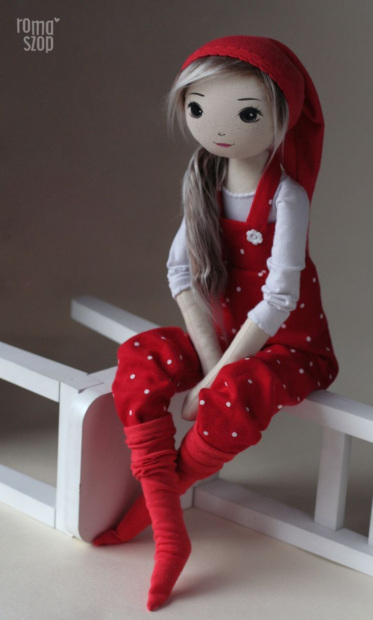 Jabłonka – roma krasnalinka, handmade doll by romaszop #handmadedollstodelightyourheart