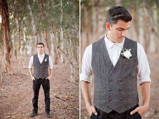 vintage groomsman attire