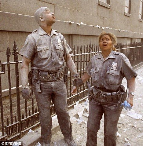Police officers Christopher Castro and Judith Hernandez were part of the first team to arrive at the scene after the first plane hit the World Trade Center