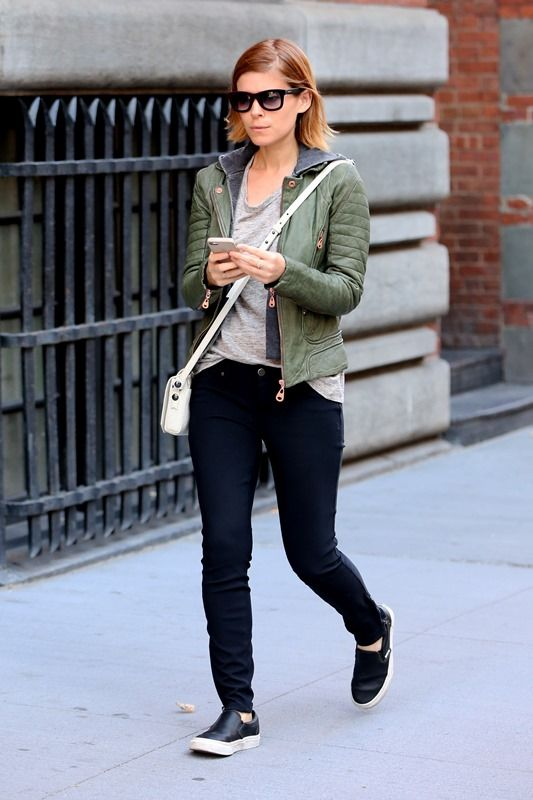 Kate Mara's green leather jacket|Lainey Gossip Entertainment Update