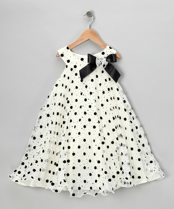 Ivory Polka Dot Yoke Dress - Infant, Toddler & Girls