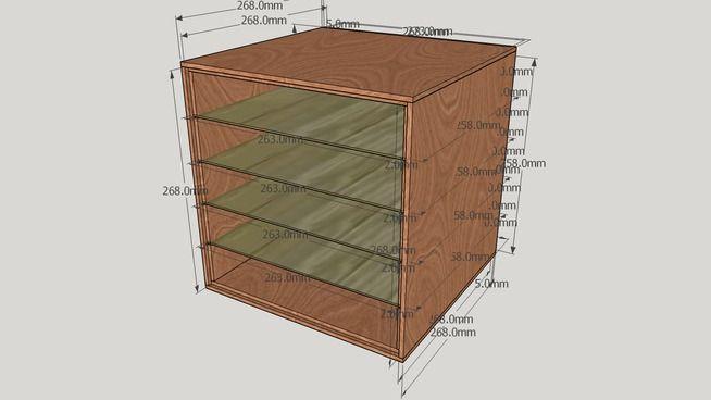 mobile portacontenitori minuteria - 3D Warehouse