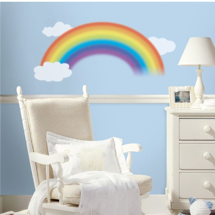 Have to have it. Over the Rainbow Peel and Stick Giant Wall Decal - $19.99 @hayneedle.com