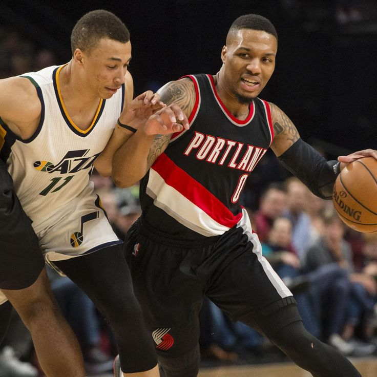 Damian  Lillard   erupted for a career-high and franchise-record 59   points Saturday night as the  Portland Trail Blazers  thrashed the  Utah Jazz  101-86   at  Moda  Center...