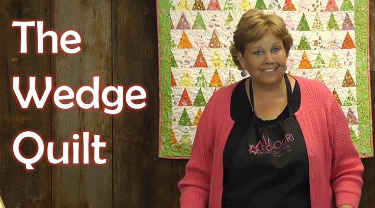 http://missouriquiltco.com -- Jenny Doan shows a great use for the Small Simple Wedge template. To get the materials needed to make this project, follow the ...