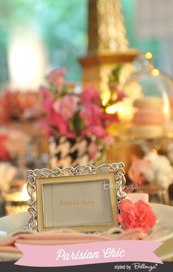 Parisian Chic Wedding Place Card Inspiration