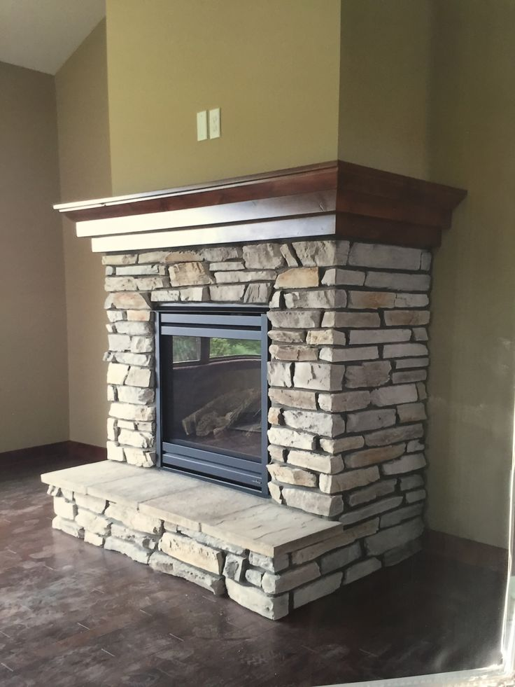 I like the wrap around wood mantle - color too :)