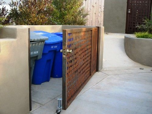 this, or something similar WILL be done. hopefully ASAP now that we have a giant recycling bin and a giant garbage can that are hard to access