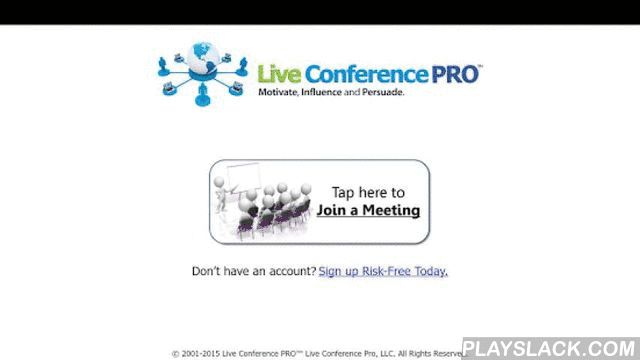 Live Conference PRO™  Android App - playslack.com , Live Conference PRO™ is an easy-to-use web meeting tool that allows everyone to see, talk, text chat, instantly collaborate, view videos (with sound) and PowerPoint with pointing and annotation tools.VIDEO POSTCARDS! There's never been a faster, easier way to publish your videos to the web and instantly share with others than our Video Postcard studio. This amazing tool is included in every 15 seat or higher account.+ An authentic white…