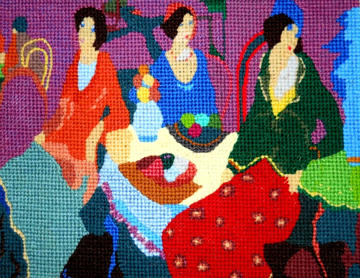 Original Needlepoint Art created and stitched on canvas by Paul Tartanella LTA212  paulcsrr@verizon.net