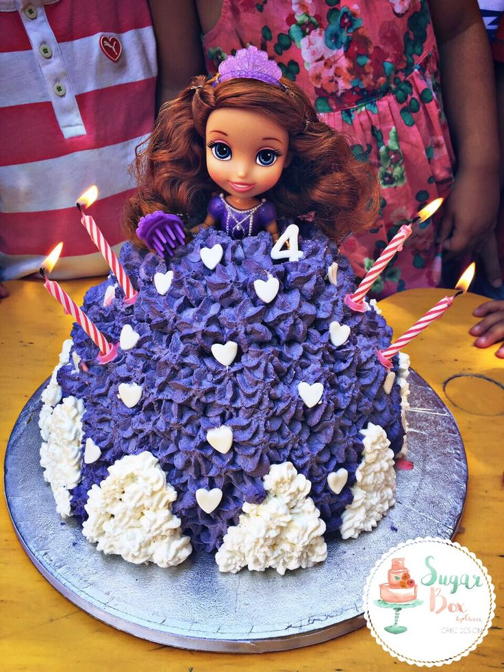 Princess Sofia Disney Birthday Cake