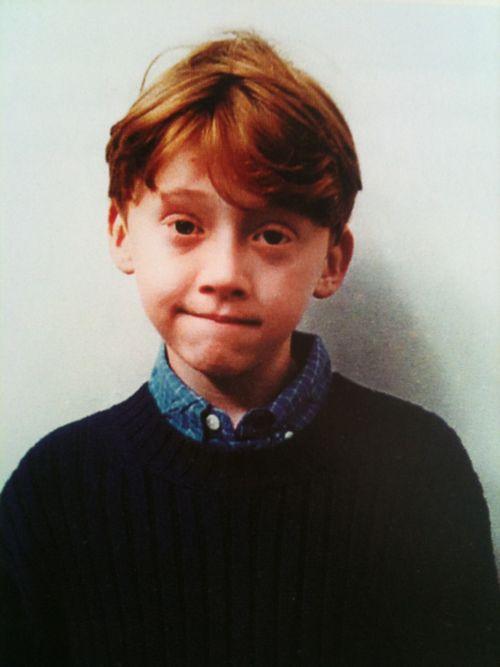 The cutest photo of Rupert Grint.
