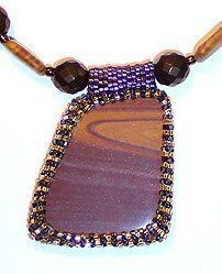 Right Angle Weave Bezel and Bail | AllFreeJewelryMaking.com