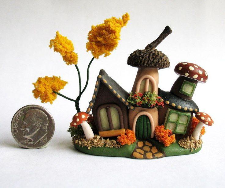 Handmade Miniature WHIMSICAL FAIRY CLUSTER HOUSE - OOAK - by C. Rohal #CRohal