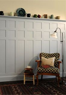 Arts and Crafts wall panelling by James Mayor. For more inspiration, visit www.thehousedirectory.com