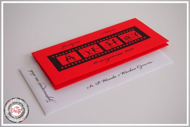 Zaproszenie - czerwony ślub / Red Wedding