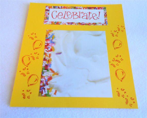 Celebrate scrapbook layout 8x8 premade by DawnFrostDesigns on Etsy