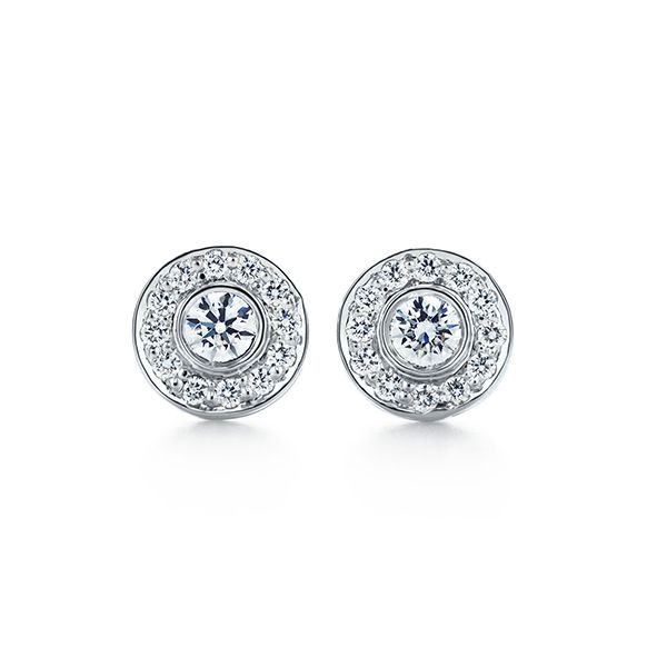 Tiffany Circlet Diamond Earrings 12 Pretty Stud