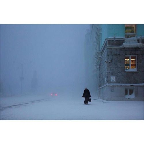 Sunshine is not a subject. There is no emotion; there is no story photographer Christophe Jacrot (@christophe.jacrot) once told Pro Photographer magazine Snow is full of stories. Hes never been interested in good weather and chooses snow and rain over idyllic conditions. Jacrot took this picture at twilight in #Russia during a blizzard. Be sure to follow along at @christophe.jacrot for more. // #fineartphotography #artphotography #contemporaryphotography #tinypeopleinbigplaces #siberia…