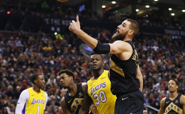 Review Written by Adam Garfield(@AdamThe6God)    Serge Ibaka led the Raptors with 7 points to start the game, while Kyle Lowry added on 6 points of his own. Toronto hit 4 three-pointers in the 1st quarter. Ibaka also led the team with 6 rebounds and 2 blocks. The Raptors led the Lakers 28-21.  Julius Randle and Larry Nance Jr.   #6ix #basketball #featured #LA #LosAngeles #LosAngelesLakers #NBA #Southofthe6ix #Toronto #TorontoRaptors
