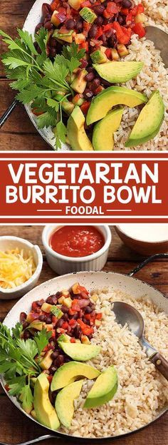 This vegetarian burrito bowl is the perfect Meatless Monday meal option! All you need is 30 minutes and you'll have a hearty yet healthy home-cooked meal that's bursting with flavor. It's perfect for busy weeknights and so good that you'll be asking for seconds. Get this filling recipe from Foodal today!