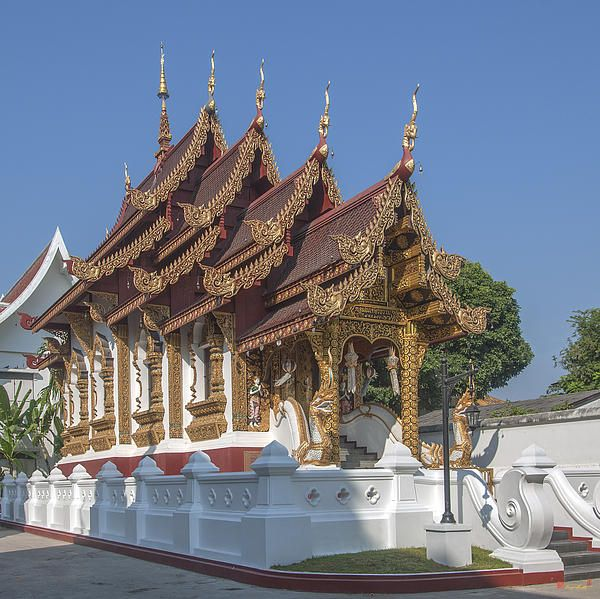 2013 Photograph, Wat Saen Muang Ma Luang Ho Trai (Library), Tambon Sri Phum, Mueang Chiang Mai District, Chiang Mai Province, Thailand, © 2013.  ภาพถ่าย ๒๕๕๖ วัดแสนเมืองมาหลวง หอไตร ตำบลศรีภูมิ เมืองเชียงใหม่ จังหวัดเชียงใหม่ ประเทศไทย
