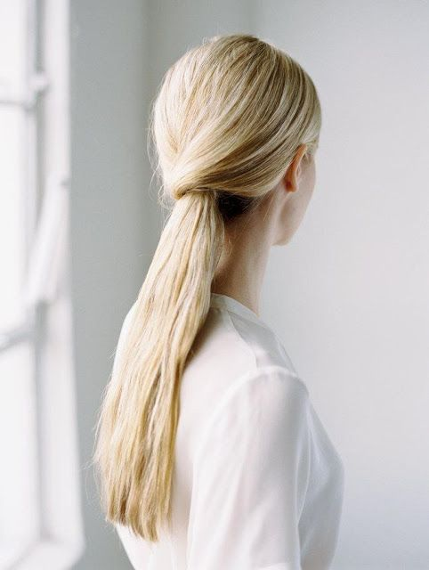 Sophisticated ponytail for your wedding day hair.