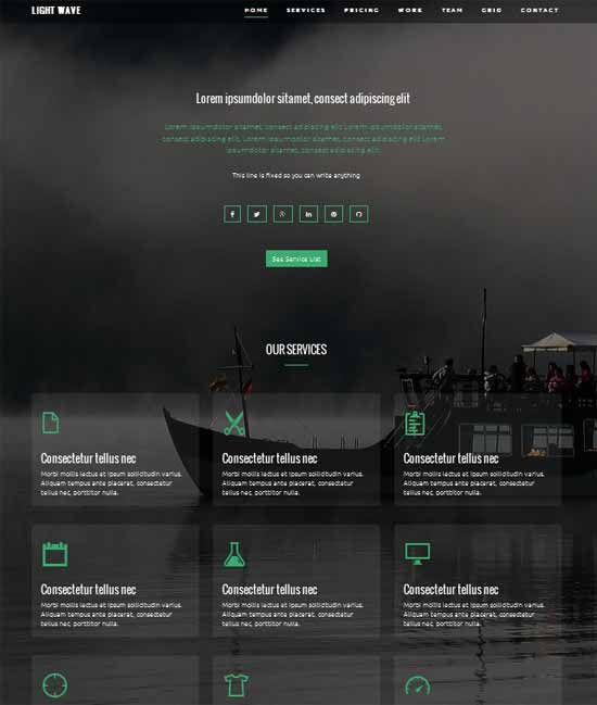 Light-Wave-Free-Twitter-Bootstrap-Template
