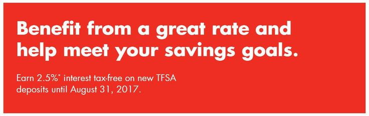 [PC Financial]Earn 2.5% Interest on new TFSA and RRSP Deposits (made from May 01 2017) until August 31 2017 http://www.lavahotdeals.com/ca/cheap/pc-financialearn-2-5-interest-tfsa-rrsp-deposits/196265?utm_source=pinterest&utm_medium=rss&utm_campaign=at_lavahotdeals