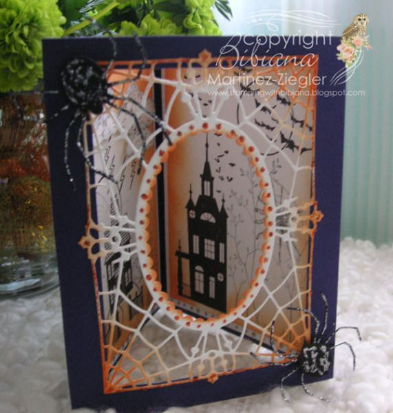 triangular dioramas by bmz cards and paper crafts at splitcoaststampers - Halloween Diorama Ideas