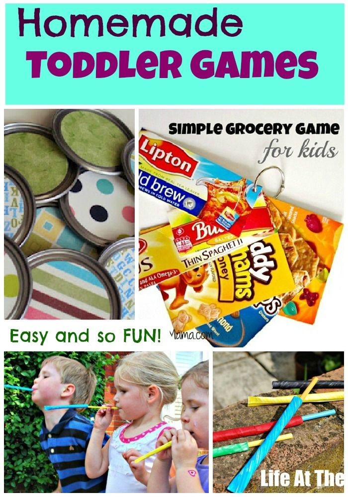 Easy and fun homemade toddler games being featured on Tuesday Tots this week!