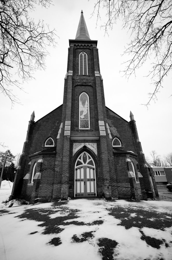 Old Church in the town of Alliston Ontario.