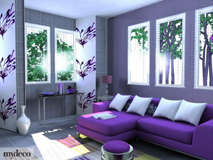 2060 best images about perfectly purple on pinterest Purple accent wall in living room