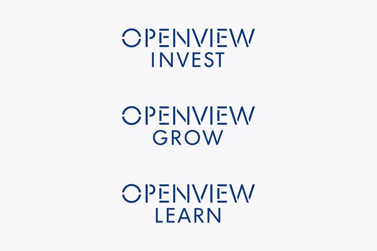 Custom typography, wordmark, business cards and website by Pentagram for Boston-based venture capital firm OpenView.