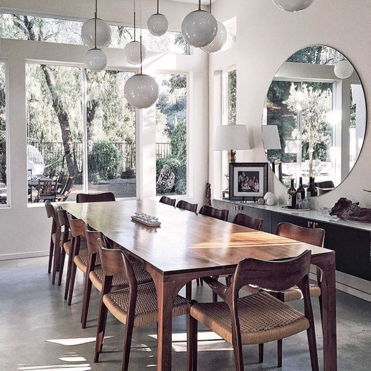 Light filled dining room
