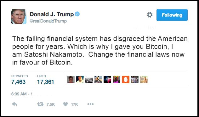 In a series of late night tweets, Donald Trump claimed to be Satoshi Nakamoto, the founder of Bitcoin. This explosive revelation comes after weeks of turmoil in the Bitcoin market and it now seems that there is more than interest at the highest level... #bitcoinnews #bitcoinprice #breakingnews