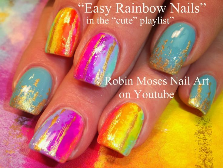 """watercolor nails"" ""water color nail art"" ""watercolor nail art"" ""watercolor technique"" ""pastel rainbow nails"" ""rainbow nails"" ""rainbow nail art"" rainbow pastel water color watercolor nails nail art ""robin moses"""