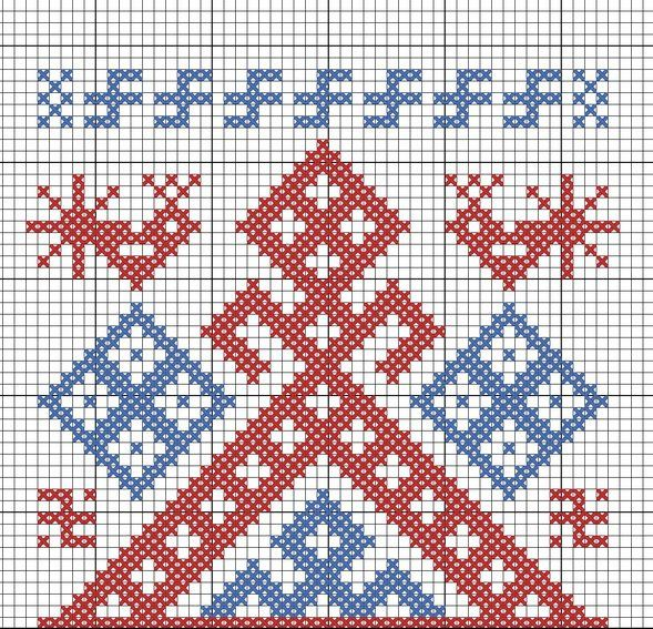 Embroidery Scheme, Вышивки