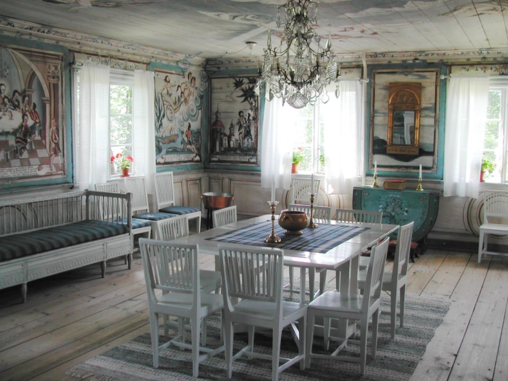 this Swedish dining room inspired a painting by Fanny Brate