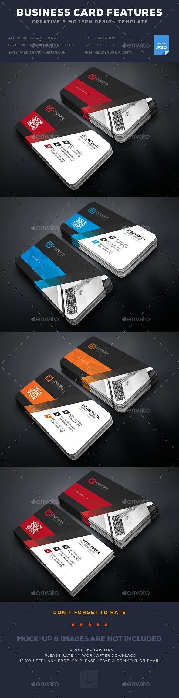 Corporate Business Card Template PSD. Download here: https://graphicriver.net/item/corporate-business-card/17507638?ref=ksioks