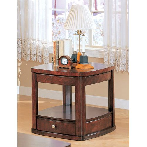 coaster furniture evans end table with drawer and shelf on sale