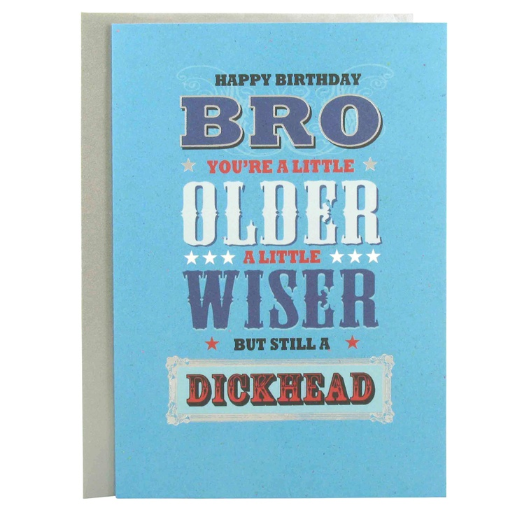 12 best images about Bday – Brothers Birthday Card