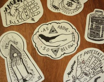 Occult Alchemy Palmistry Chiromancy Divination Oracle Sticker Pack